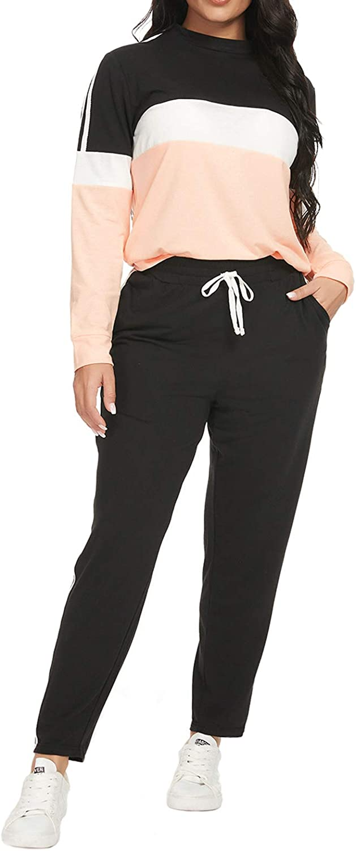 Top-Vigor Womens 1 year warranty 2PCS Sweatsuits Set Top Long and Genuine Sleeve Bodycon