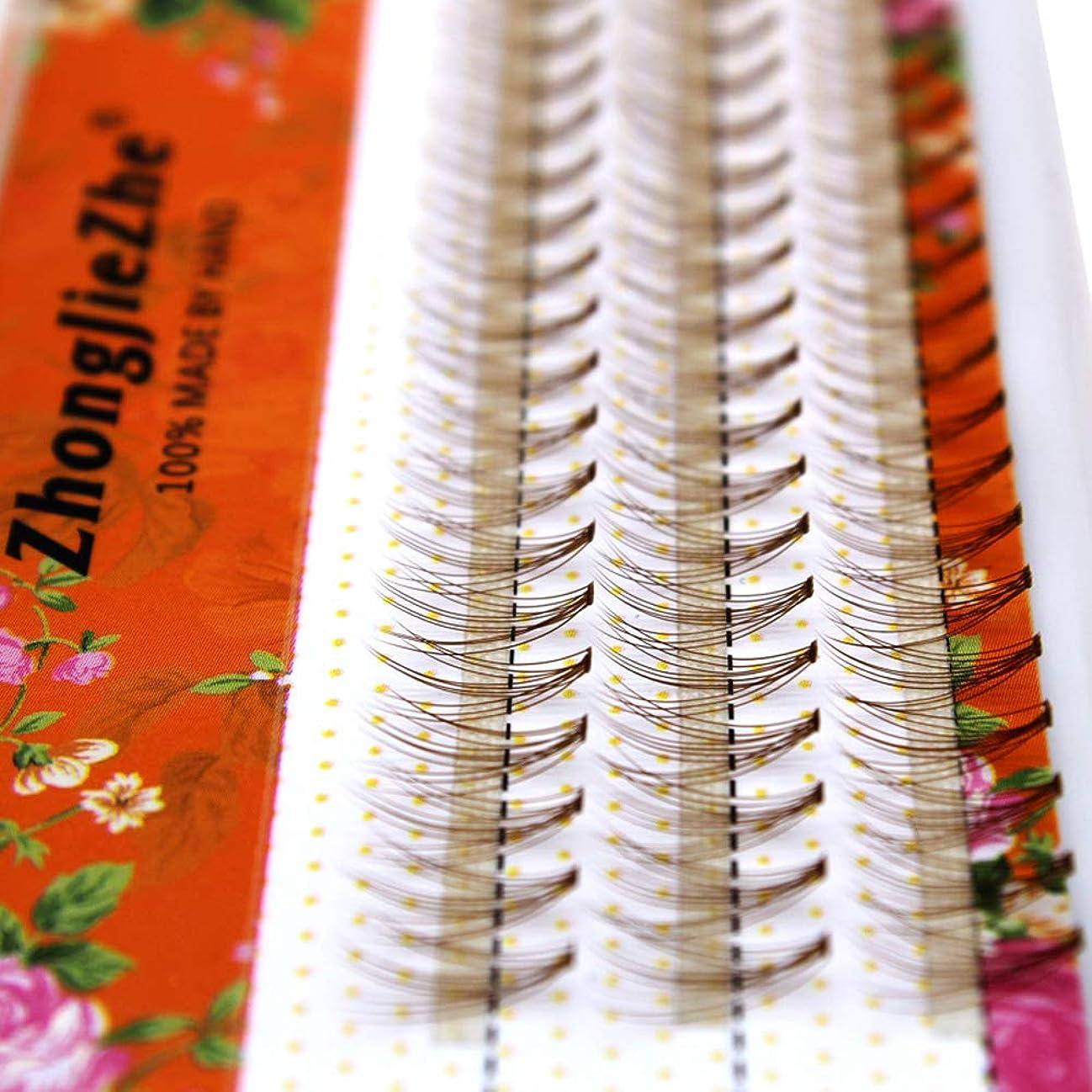 繰り返しパーティションコウモリCLLUZU つけまつげ0.07 mm粗い単植物10髪のグラフト入れまつげブラウンナチュラルソフトで快適