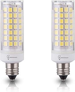 LumenBasic JDE11 LED E11 Bulb 50w Equivalent Daylight White with Mini Candelabra Base JDE11-50w 60w incadescent Bulb Replacement, 50watt 60watt Living Rooms, Family Rooms and hallways