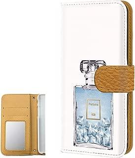 AQUOS ZETA SH-01H PU手帳型 ミラータイプ 【透明ケース:アイス】 香水 アクオス ゼータ スマホケース 携帯カバー [FFANY] perfume-190753m