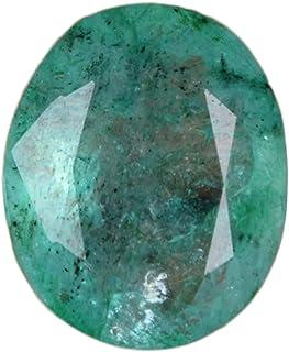 GEMHUB Esmeralda verde de 5,25 quilates, piedra preciosa natural certificada brillante, corte ovalado, fina calidad, piedr...
