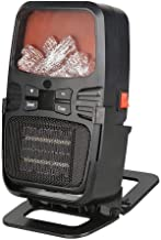 WEIZI Chimenea 3D Efecto de Llama Espacio eléctrico portátil Ventilador de calefacción por Llama Mesa calefactora Mini Calentador con protección contra sobrecalentamiento e inclinación Soporte de