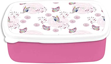 Butterflies Decorations Utility Plastic Lunch Containers,Butterflies and Branches Romantic Spring Retro Faith Optimism Change Fly Theme for Home,7.09