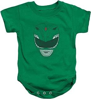 Power Rangers - Onsie Infant Snapsuit Green Ranger helmet design