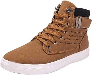 newest a77df 161ea chaussures de sécurité hommes Mode Hommes Oxfords Casual Haut Haut  Chaussures Sneakers (43, À