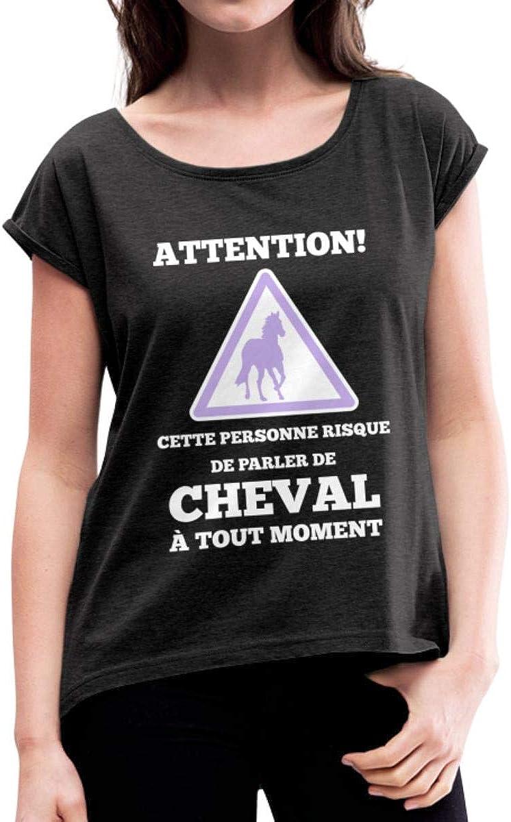 TEEZILY Sweat /à Capuche Unisex Je Dois partir Mon Cheval mappelle