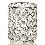 VINCIGANT Cilindros de Plata Candeleros de Cristal Farol Decorativo con Luz de Cadena para el Decoración del Hogar de la Boda Decoración navideña