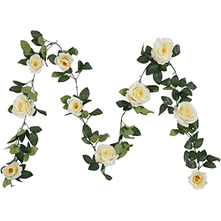 Blumengirlande Mit Kunstseide Blumen Von Houda Für Heim Garten Wände Hochzeit 1 Stück