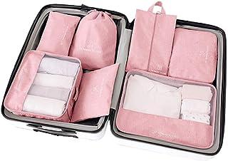 トラベルポーチ衣类收纳バッグ化妆品收纳バッグ7セット大容量旅行バッグ
