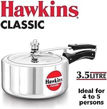 Hawkins CL35 Aluminum Pressure Cooker, 3.5 Litre, Silver