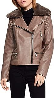 Womens Faux Leather Jacket Moto Coat