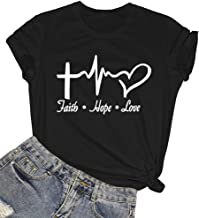 ROSEPARK Womens Graphic Cute Cotton Funny T Shirt Tees Gift Ideas