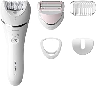 Philips Cordless Epilator– All-Rounder for Face and Body Hair Removal (White)