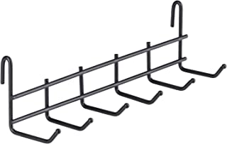 """Kaforise Hook Rack for Wall Grid Panel, Small Metal Wall Hook, Hanging Storage Organizer Hook for Wall Storage and Display, Size 10"""" x 2.7"""" x 2.9"""", Black"""
