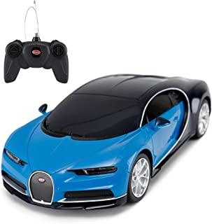 RASTAR Bugatti Veyron Chiron RC Car 1:24 Scale Remote Control Toy Car, Bugatti Chiron R/C Model Vehicle for Kids - Blue …