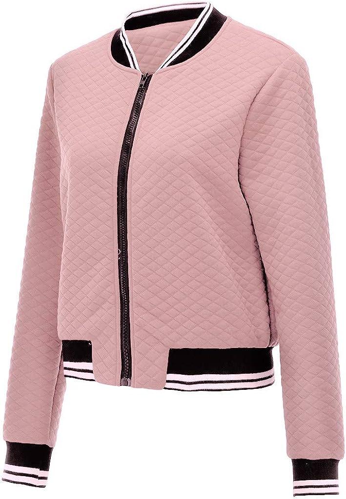 ✦HebeTop✦ Women's Lightweight Classic Casual Stand Collar Short Biker Moto Jacket