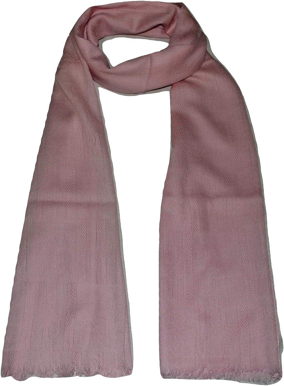 100% Pure Cashmere Scarf, Self Jacquard, Super Soft, Warm, Light, Breathable, Cashmere Scarf.