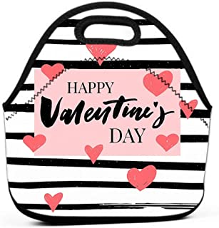 Lunch Tote Bag Cute Lunch Box Lunchbox Large Reusable Lunch Bag slogan graphic rose retro style prints other uses valentine s day love slogan