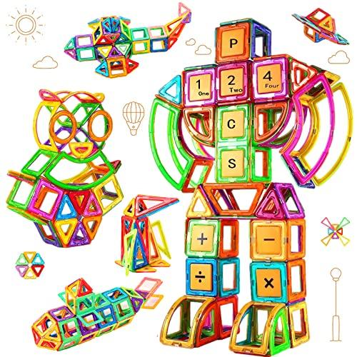 Morkka Bloques de construcción de Bloques magnéticos de 124 Piezas Juegos educativos para niños, de Construction Building Sets (124 pcs)