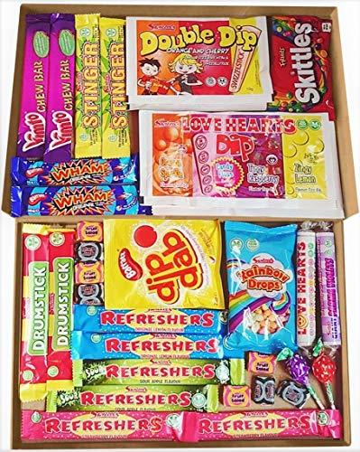 Vegan Retro Sweets Gift Box | Retro Sweets Treats All Vegan Childhood Classic Selection Box