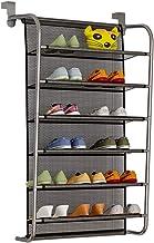 Opbergzak voor schoenenrek aan de muur achter de deur, 6-laags hangend metalen opbergrek, 18 paar schoenenrek voor toegang...
