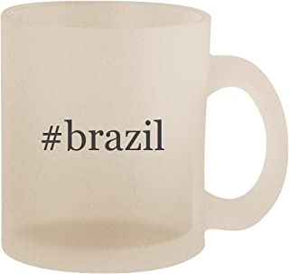 #brazil - Hashtag Frosted 10oz Glass Coffee Cup Mug