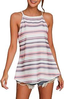chengzhijianzhu Womens Summer Solid Sling Sleeveless Midi Skirt Dress Strap Beach Causal Tank S-2XL