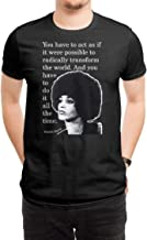 COOLCHINA Men's/Hombre Angela Davis Quotes Short-Sleeve Neck T-Shirts/Camiseta