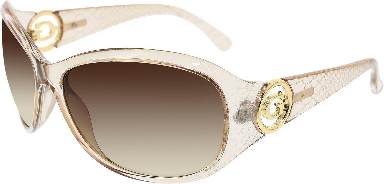 Guess Women's Gradient GU7309GRY34 Peach Butterfly Sunglasses