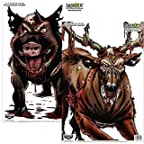 Birchwood Casey Darkotic Combo - 12' x 18' Smokehouse/Blood Trail 4/4 Targets