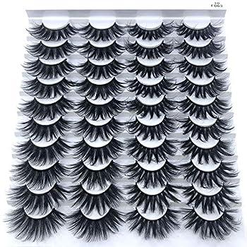 HBZGTLAD 20 pairs 3D Mink Lashes Natural False Eyelashes Dramatic Volume Fake Lashes Makeup Eyelash Extension Silk Eyelashes F063