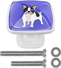 4 Stks voor Kast Dressing Tafel Witte Lade Trekt Handvat Kast Deurknoppen Vierkante 30mm met Schroeven Bulldog