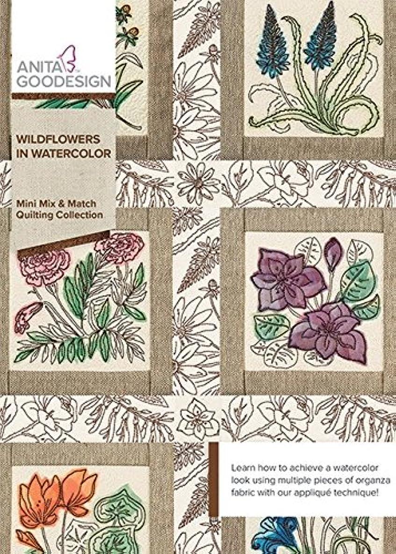 Anita Goodesign Embroidery Machine Designs CD Wildflowers in Watercolor