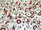 Minerva Crafts Baumwollstoff, Weihnachtsmotiv,