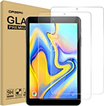 (2 Pack) Orzero for Samsung Galaxy Tab A 8.0 inch 2018 (SM-T387) Tempered Glass Screen Protector, 9 Hardness HD Anti-Scratch Full-Coverage (Lifetime Replacement)