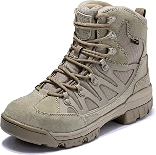 Men's Mid Ankle Waterproof Tactical Boot, 8 Inch Ultralight Breathable All Day Comfort Approved Work Boots Non Slip Breathable Quick Dry Anti Fatigue