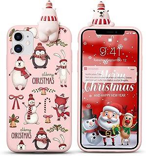 """Yoedge Etui do Apple iPhone 13 Pro Max 6,7"""", karykatura 3D, czerwony silikon TPU, Boże Narodzenie, etui ochronne [Slim odp..."""