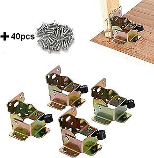 TopDirect 4PCS 75 x 60 x 55mm bisagras de hierro mesa patas