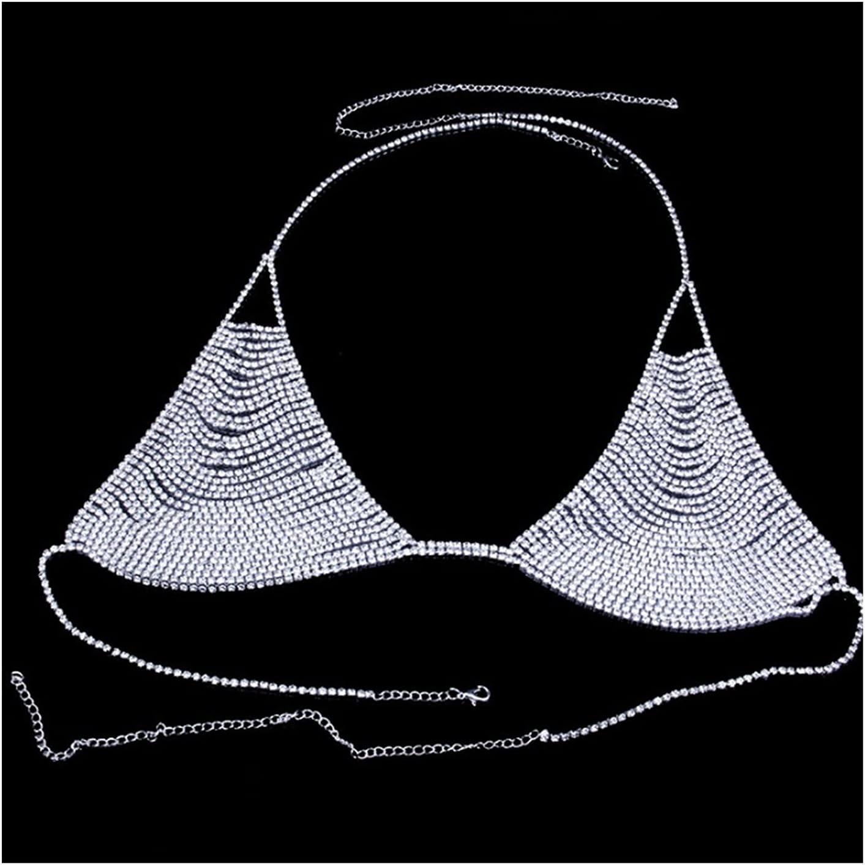 Popular popular XYMJ Rhinestone Underwear Chain Bra Ch Body Panties Crystal NEW before selling ☆ and