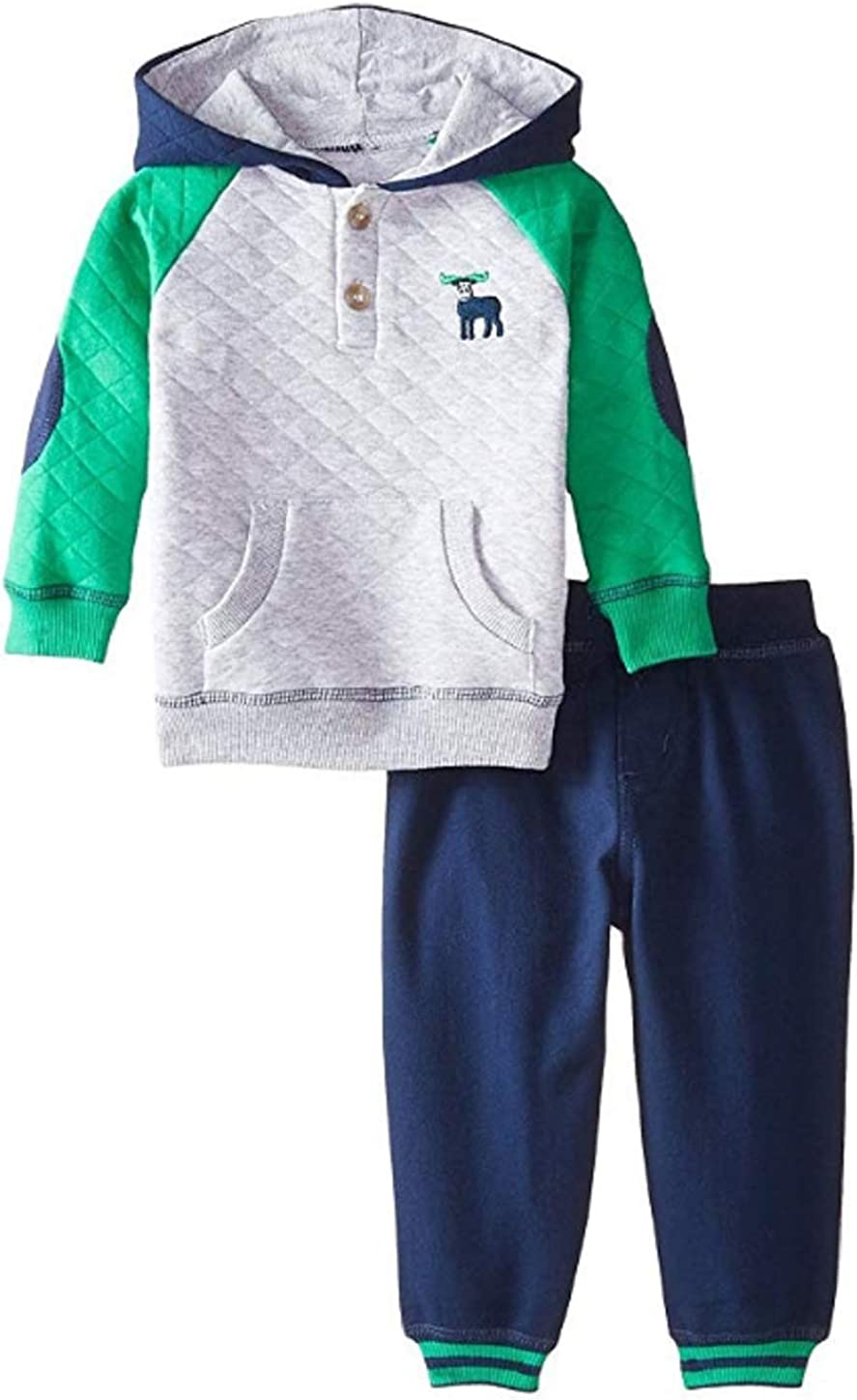 Little Me Baby Boys' Moose Quilted Pant Set