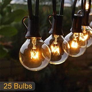 Zngo 25 Pcs Outdoor Festoon String Lights LED Wedding String Fairy Light Indoor Outdoor Festival Lights Crystal Ball Decorative Fairy Lights Patio,Cafe,Garden,Festoon Party Decoration