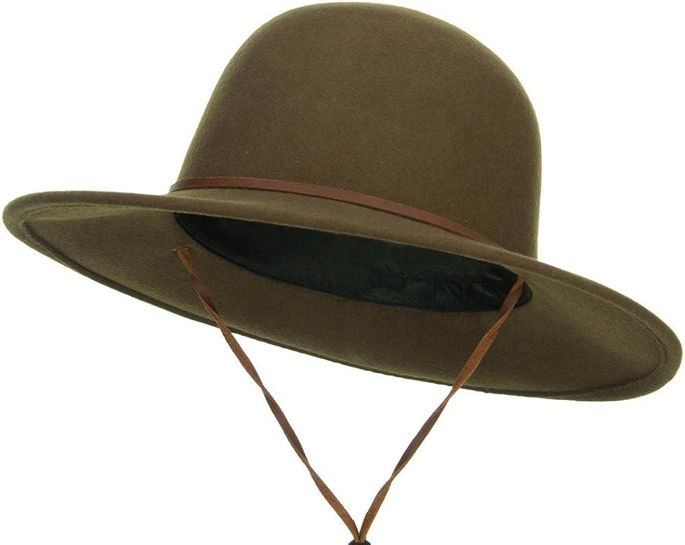 Jeanne Simmons Round Crown Wool Felt Hat