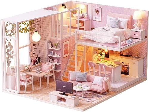Disfruta de un 50% de descuento. SOSAWEI Casa de muñecas DIY DIY DIY Kit de Madera Hecho a Mano para niñas Cabina Cuento de Hadas Decoración para el hogar Casa, Cumpleaños Creativo Navidad.  increíbles descuentos