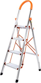 comprar comparacion WolfWise Escaleras Plegables Aluminio de 4 Peldaños Portátil Antideslizante con Empuñadura de Goma Capacidad de 330 libras...