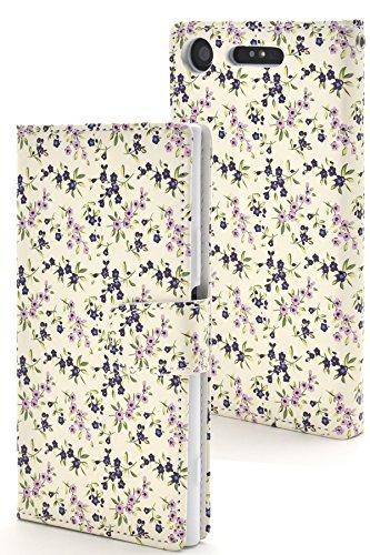 PLATA Xperia XZ1 SO-01K / SOV36 / 701SO ケース 手帳型 花 フラワー 花柄 ストラップ ポーチ カバー 【 03 】