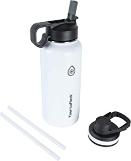 Thermoflask 50071 Double Stainless Steel Insulated Water Bottle, 32 oz, White (Renewed)