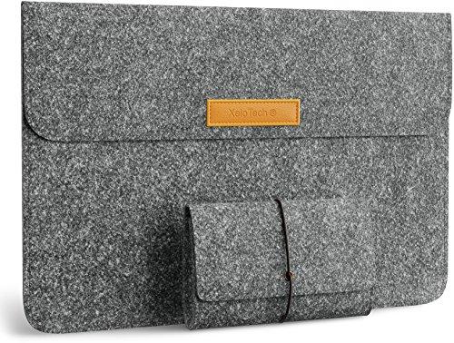 XeloTech Set aus Zwei edlen Filztaschen für iPad Pro 12.9 Zoll oder MacBook Air 13