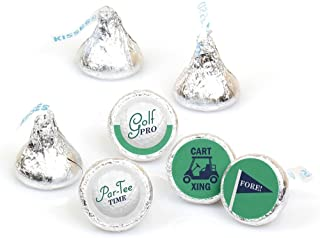 Par-Tee Time - Golf - Birthday or Retirement Party Round Candy Sticker Favors - Labels Fit Hershey's Kisses (1 Sheet of 108)