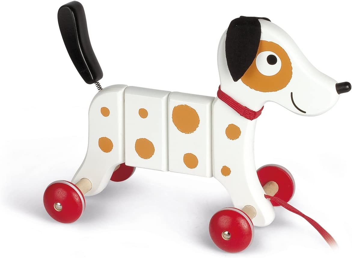 Janod Crazy Rocky Dog Pull Now on sale Along Skills Minneapolis Mall Motor Learning Early and