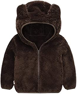 dozenla Toddler Fleece Warm Hoodies Clothes Zip-up Light Jacket Sweatshirt Outwear for Baby Boys Girls